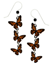 Sienna Sky 3 Part Monarch Butterfly Long Dangle Hand Painted Earrings