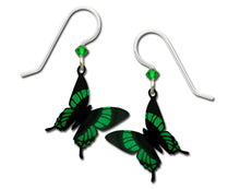 Sienna Sky 3D Green Malachite Butterfly Hand Painted Earrings