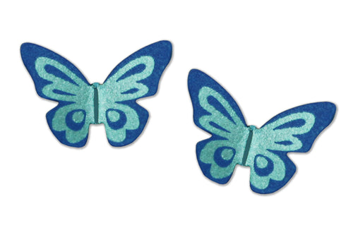 Sienna Sky Blue Butterfly Post Stud Hand Painted Earrings