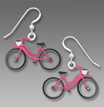 Sienna Sky Vintage Retro Pink Bike Hand Painted Earrings