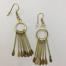 WorldFinds Chime Metal Fringe Goldtone Fair Trade Earrings