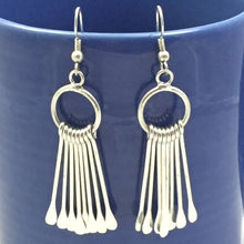 WorldFinds Chime Metal Fringe Silvertone Fair Trade Earrings