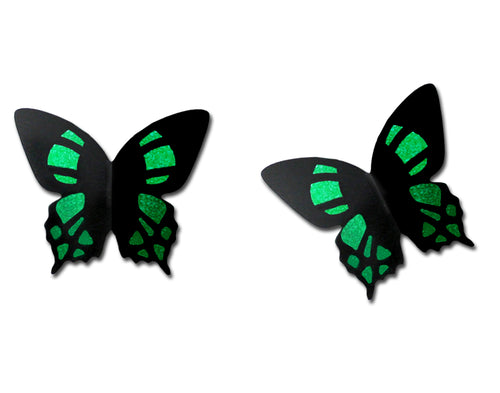 Sienna Sky Malachite Green 3D Butterfly Post Stud Hand Painted Earrings