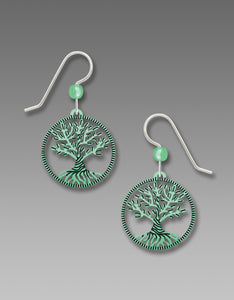Sienna Sky Twisted Tree of Life Aqua Green Filigree Handmade Earrings
