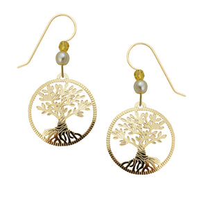 Sienna Sky Twisted Tree of Life Filigree Gold Plated Handmade Earrings