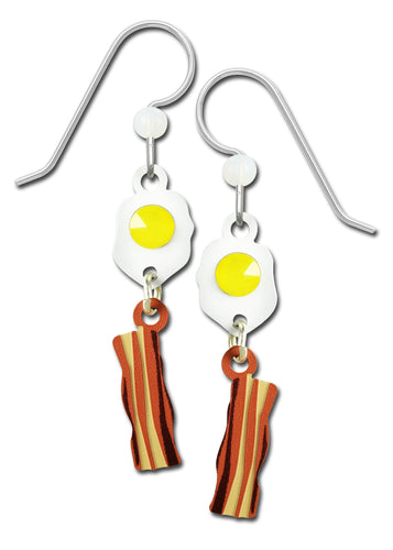 Sienna Sky Bacon and Eggs Hand Painted Earrings