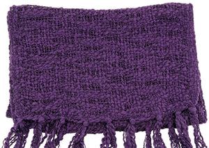 Handmade Thai Woven Purple and Black Scarf