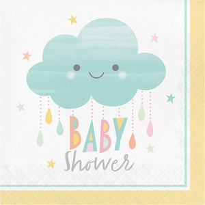 Baby Shower Party Supplies for 32 - Gender Neutral Plates Napkins Cups Balloons Confetti