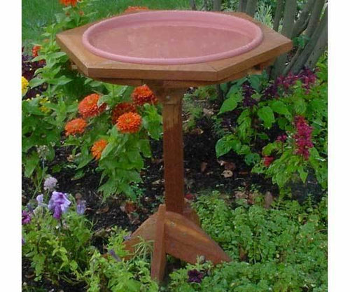 Classic Cedar Standing Post Bird Bath
