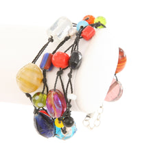 Colorful Glass Bead Knotted 4 Strand Fair Trade Bracelet