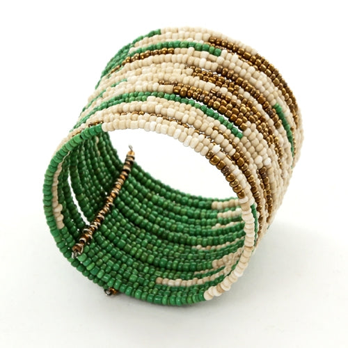 Beaded Lime Green Cuff Fair Trade Bracelet