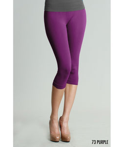 Purple Capri 3/4 Length Leggings