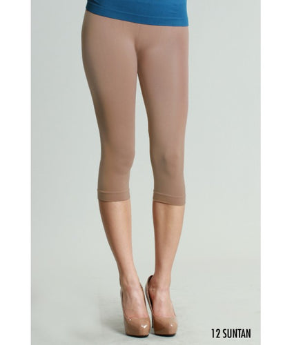 Suntan Capri 3/4 Length Leggings