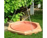 Classic Cedar Hanging Bird Bath