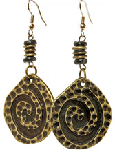 Handmade Cheetah African Brass Earrings