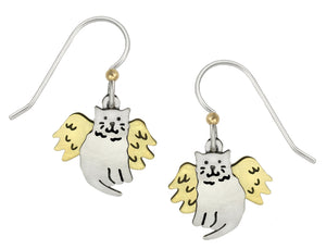 Sienna Sky Angel Cat Metallic Handmade Dangle Earrings