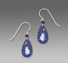 Sienna Sky Luna Cat Watching the Moon Hand Painted Earrings