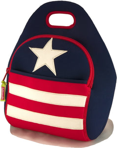 Dabbawalla Stars and Stripes Patriotic Kids Lunch Bag