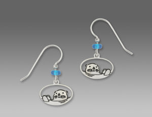 Sienna Sky Sea Otter Silvery Dangle Earrings