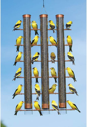 Copper Finches Favorite 3 Tube Bird Feeder