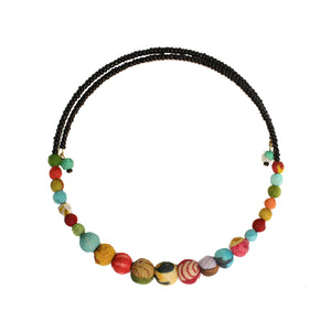 Recycled Kantha Textile Bead Fair Trade Choker Necklace