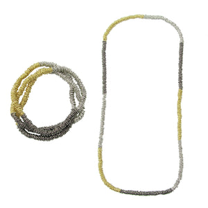 Tricolor Metallic Rings Fair Trade Necklace or Bracelet