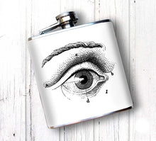 Oso and Bean Eye on You Designer Art Hip Flask