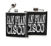Oso and Bean San Francisco Graphic Art Designer Hip Flask