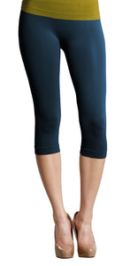 Denim Blue Capri 3/4 Length Leggings
