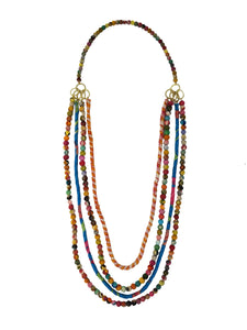 Dionysus Recycled Kantha Bead Fair Trade Necklace