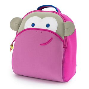 Dabbawalla Blushing Monkey Kids Pink Backpack