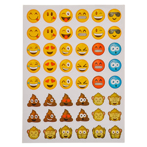 Emojis Birthday Party Supplies for 16 - Plates Napkins Tablecloth Photo Props Balloons Stickers