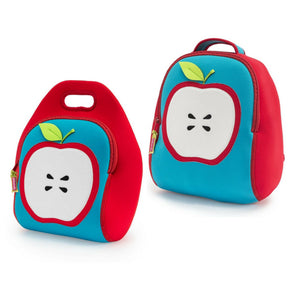 Dabbawalla Apple of My Eye Kids Backpack and Lunch Bag Set