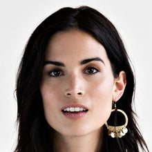 Mata Traders Moon Fringe Goldtone Brass Fair Trade Hoop Earrings