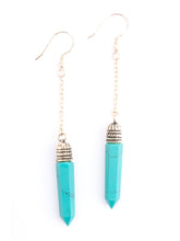 Spike Drop Turquoise Resin Fair Trade Earrings