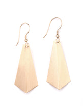 Mata Traders Time and Space Goldtone Brass Fair Trade Dangle Earrings