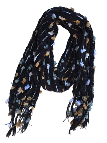 Fair Trade Thai Woven Black and Multicolor Handmade Scarf