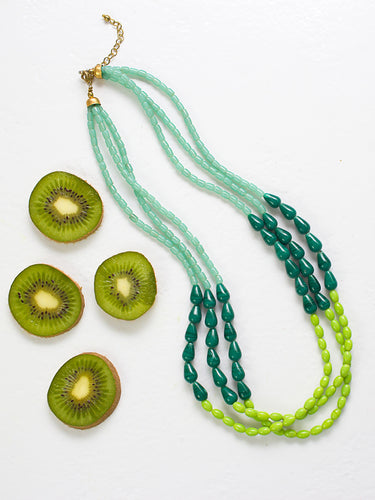Suzano Green Glass Beaded Fair Trade Necklace