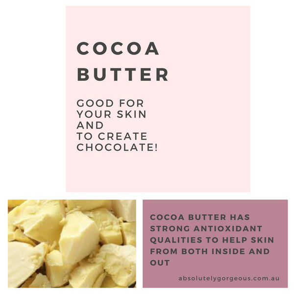 Cocoa Butter - natural ingredient for chocolate and Skincare