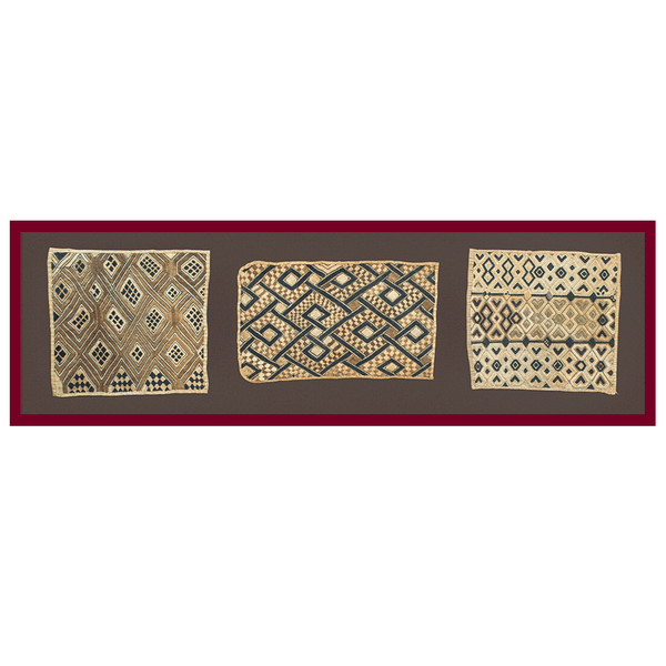 Authentic Hand Made 'Kuba Kloth Panels' Decor from Zaire Made in 1970