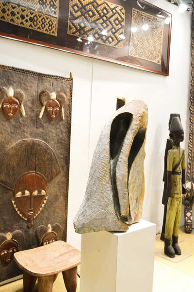 On display at the Harlem Fine Arts Show in NYC: Authentic Hand Made 'Kuba Kloth Panels' Decor from Zaire Made in 1970