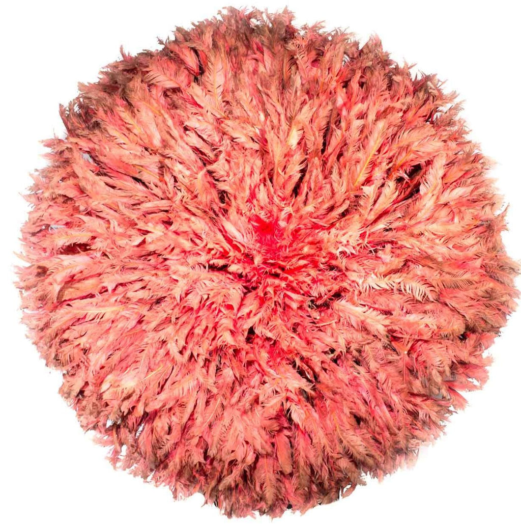 Genuine Cruelty-Free Ostrich Feather 'Juju Hat' Decor from South Africa Made in 1960