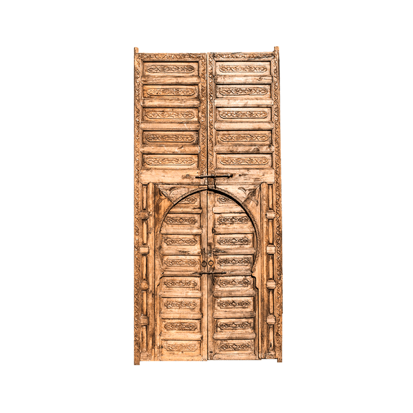 Authentic Wooden Carved Door from Morocco Made in 1952