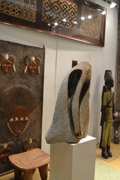 Door on display at the Harlem Fine Arts Show in NYC: Authentic Wooden Carved Door from Mali Made in 1950