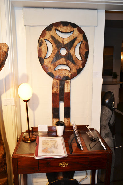On display at the Harbor View Hotel in Martha's Vineyard: Authentic 'Bedu Mask' from Cameroon Made in 1963