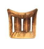 Full view: Authentic Vintage Hand Carved Wooden 'Head Rest' from Mali Made in 1963