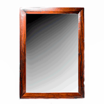 Antique Hand Made Red Jarrah Wood 'Mirror' from Zimbabwe