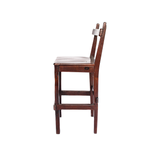 Profile View: Antique Hand Made Red Jarrah Wood Bar Stool from Zimbabwe