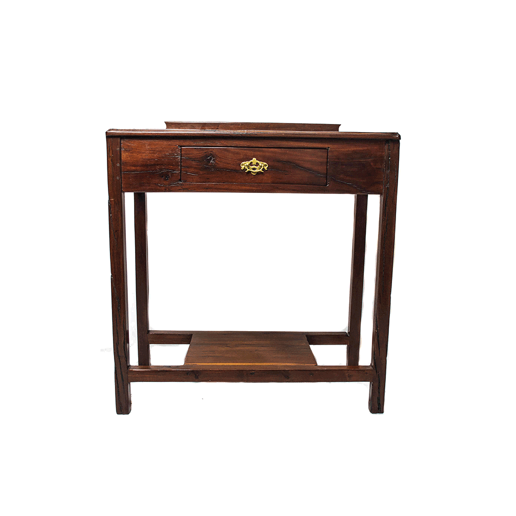 Front view:  Antique Hand Made Red Jarrah Wood Desk from Zimbabwe
