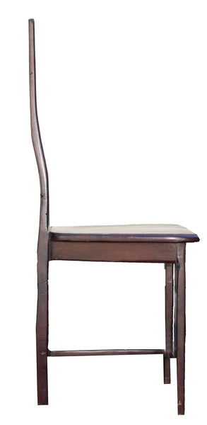 Profile view: Antique Hand Made Red Jarrah Wood Chair from Zimbabwe